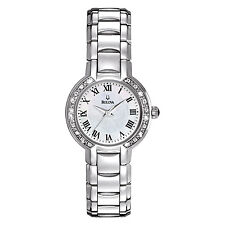 Bulova Women's 96R159 Diamond Dial Quartz Stainless Steel Dress Watch