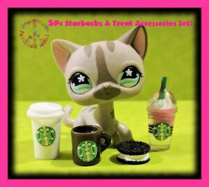 Littlest-Pet-Shop-LPS-Lot-5-Pc-Custom-STARBUCKS-amp-TREAT-Doll-Accessories-Set
