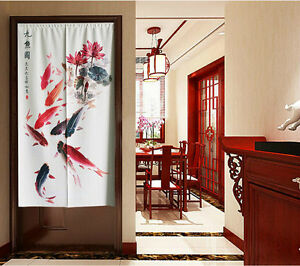 Image Is Loading Japanese Door Curtain Tapestry Chinese Vintage Screen Fish