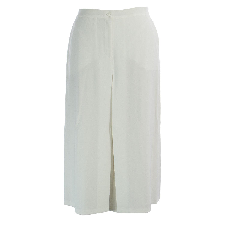 MARINA RINALDI Women's White Casa Button Front Culottes  420 NWT