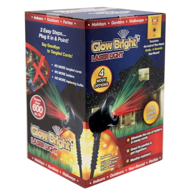 Glow Bright Still Laser Light Show with Ground Stake