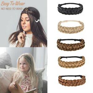 Lady-Girl-Braided-Fairy-Bohemian-Braid-Wig-Wedding-Beach-hair-band-headband
