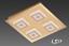 Briloner LED Deckenleuchte Deckenlampe Gold Farbe  Lampe Leuchte 3330-047