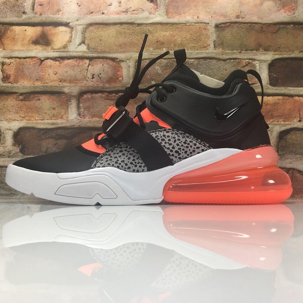 Nike Obliger Aérienne 270 Safari Hommes Gris Taille 10 Orange Wolf Gris Hommes Noir AH6772-004 1ce97c