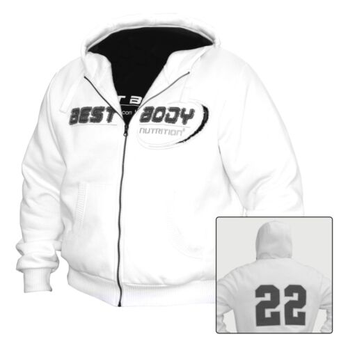 Best Body Nutrition Premium Zip Hoody 22 White