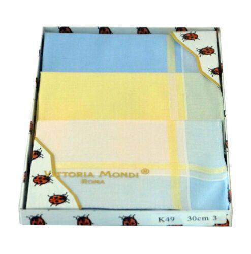 Damentaschentücher,Geschenkpackung,Taschentücher,Damen,100/% Baumwolle,farbig