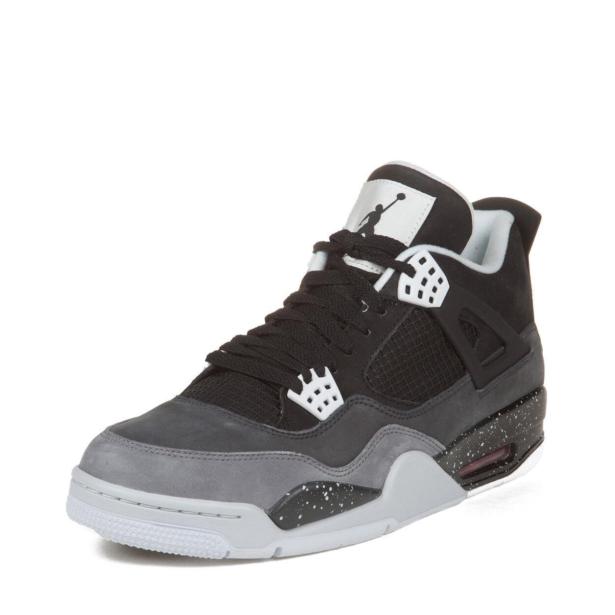 Nike Mens Air Jordan 4 Retro  Fear Pack  Black Cool Grey 626969-030