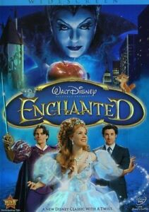 Enchanted-DVD-Walt-Disney-Pictures-2008-Widescreen-Color-Slipcover-READ