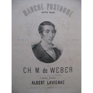 Noten & Songbooks Weber Posthume Markt Piano 1865 Partitur Sheet Music Score Gut FüR Antipyretika Und Hals-Schnuller