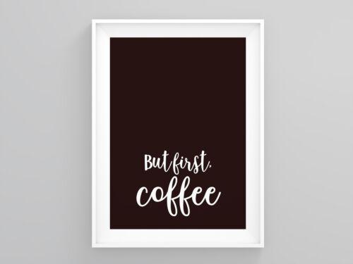 But First Coffee Kitchen Print Baker Gift Prints Illustrations Modern Wall Art