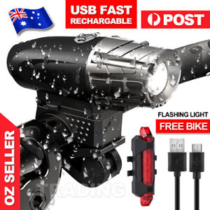 USB-Rechargeable-Warning-Bike-Bicycle-Light-LED-Waterproof-Front-Rear-Tail-Lamp