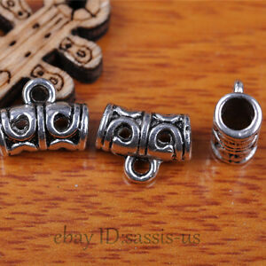 50pcs-Charms-Tibet-Silver-Connector-Bails-Fit-Pandent-DIY-Jewery-Making-A7294