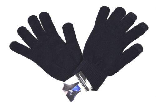 2 Paar schwarze Touchscreen Handschuhe für Tauchdisplays von Smartphones WOW!