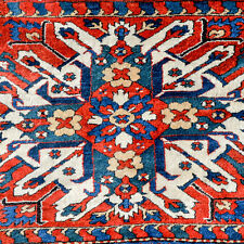 AN EXTRORDINARY ANTIQUE ARMENIAN CHELABERD EAGLE KAZAK CAUCASIAN RUG - FULL PILE
