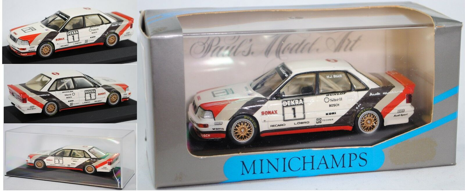 Minichamps Minichamps Minichamps 11101 AUDI v8 quattro EVO DTM Stagione 1991, in stucco, 1 43 748bf3