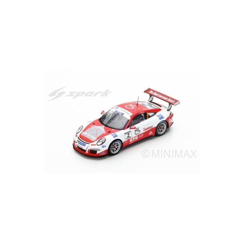 Spark S5152 - PORSCHE Carrera Cup n°2 Champion Mobil 1 Supercup 2016 1 43