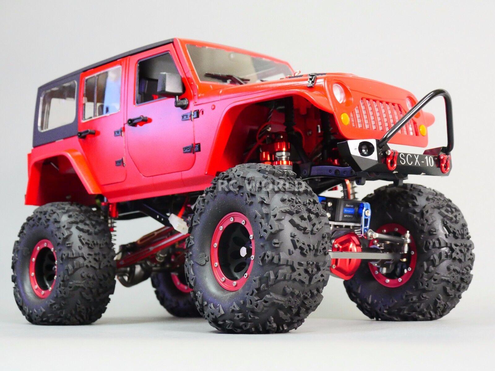 Escala RC Truck Body Shell 1 10 Jeep Wrangler Rubicon duro cuerpo + Metal Jaula De Techo