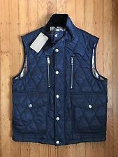 NWT Burberry Brit Gresling Quilted Utility Vest - Blue/Navy - Size Medium