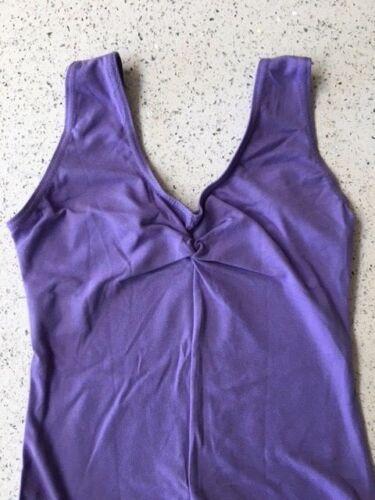 Lavande sans Manche Leotard Age 8-18 Femmes en coton foi filles Faye Ballet Danse