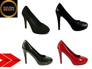 NEU Damen Herren Drag Queen Crossdresser High Heel Plateau Pumps Schuh Große Größen