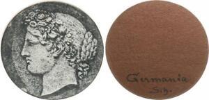 Weimar Parchemin Hartpappe échantillon Pour Un 3 Mark Pièce (environ 1925) Tête Germanie-afficher Le Titre D'origine CoûT ModéRé