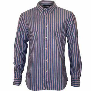 Stripe Uomo Blu French Regular Connection Camicia qCE0wa
