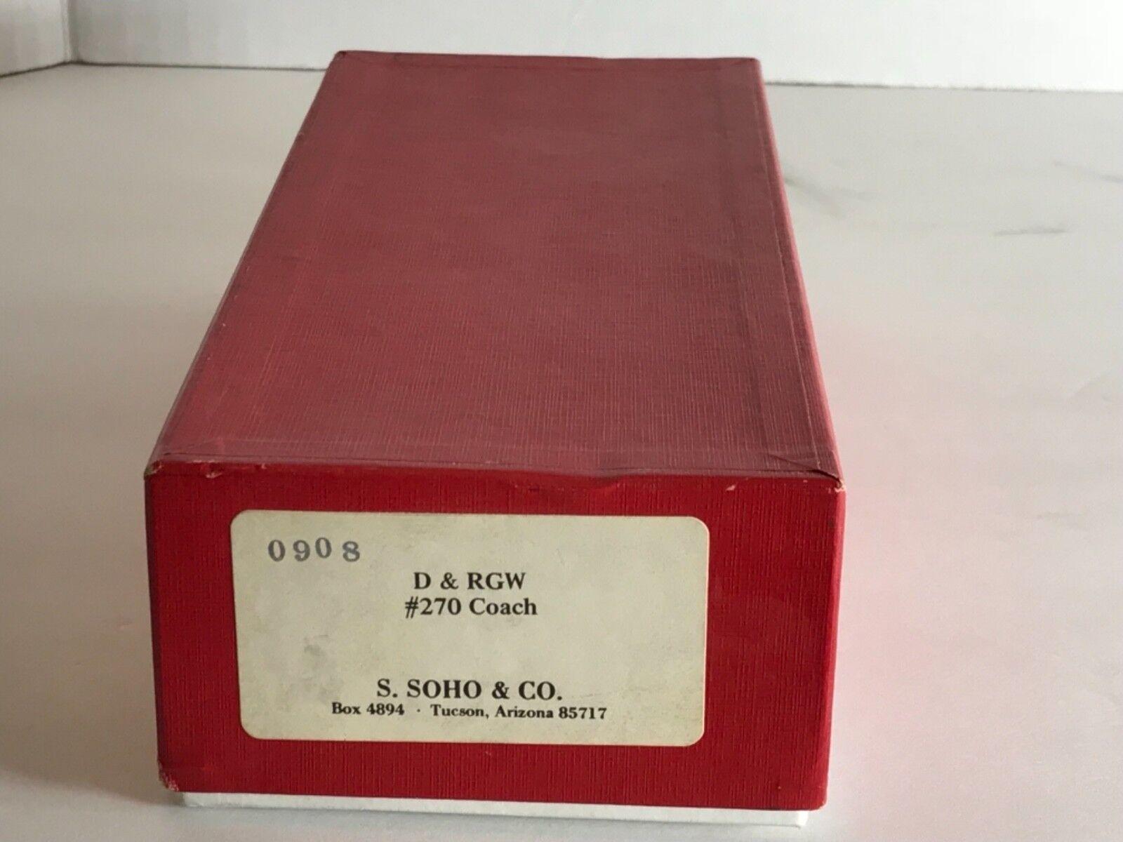 alta calidad general HON3 Latón Modelo Tren-S. Soho & & & Co D&RGW  270 Coche de viajeros  ahorrar en el despacho