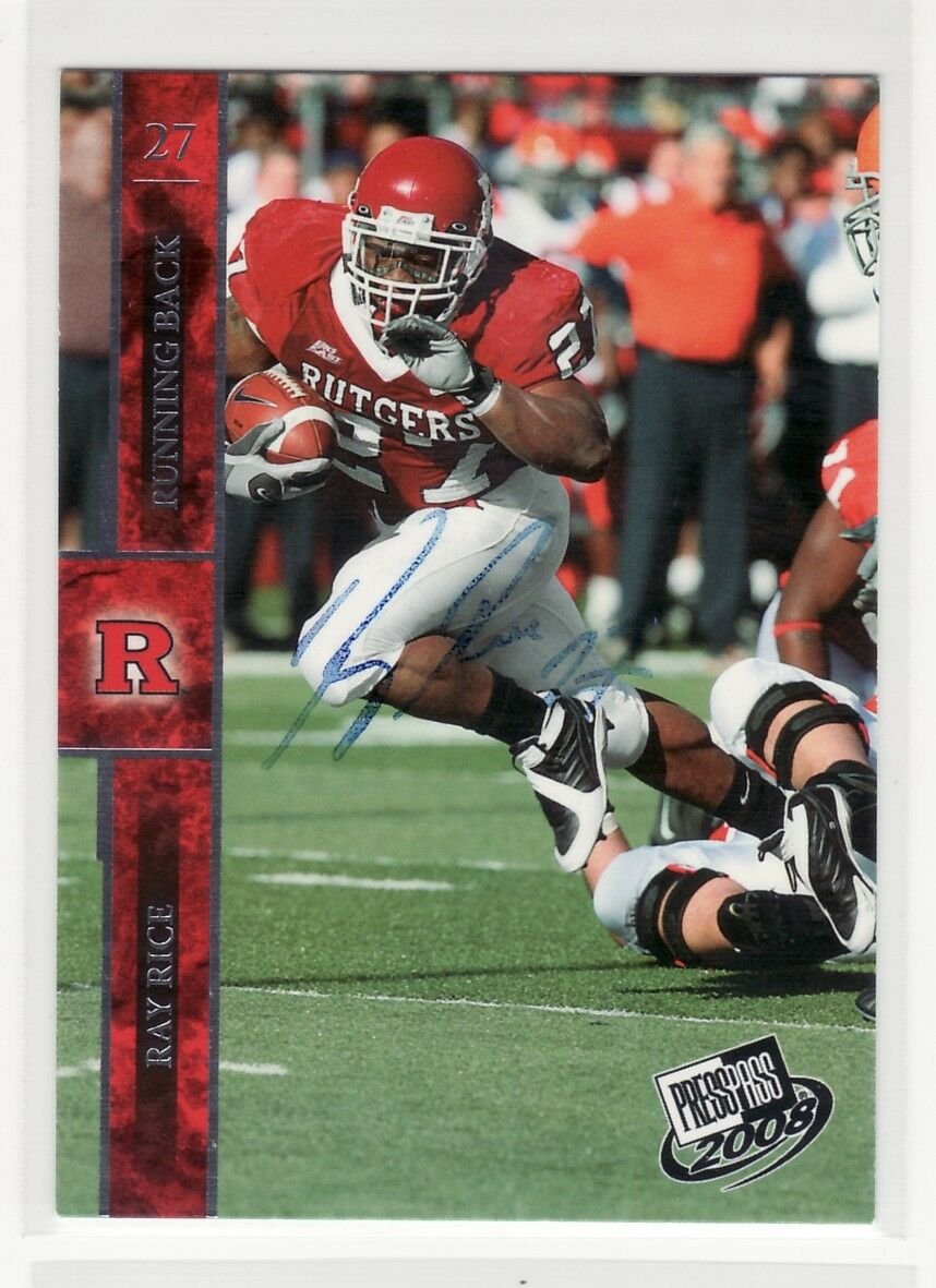 RAY RICE AUTOGRAPHED RUTGERS UNIVERSITY ROOKIE ...