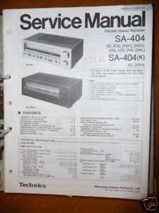 Anleitungen & Schaltbilder Service Manual Technics Sa-404 Receiver,original Hoher Standard In QualitäT Und Hygiene