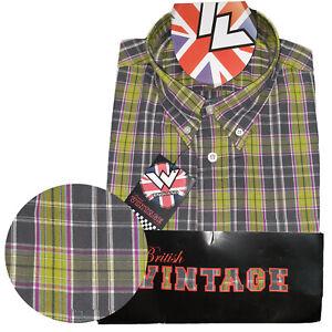 Warrior-UK-England-Button-Down-Shirt-START-Slim-Fit-Skinhead-Mod-Retro