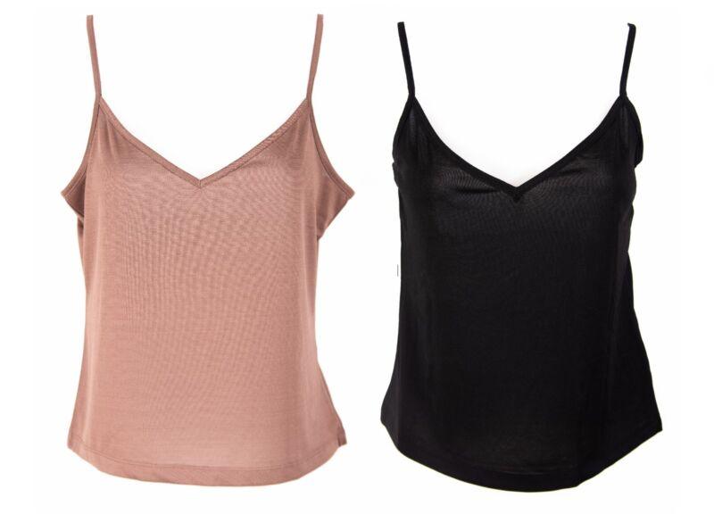 Ladies Camisole Vest Top Womens Strappy Slip New Per Se Cool Size 10-20 Ex Store
