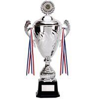 Silver Yukon Cup Trophy 33cm Football Team Player Award Free Engraving 090a