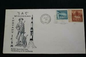 Space-Cover-1966-Macchina-Annullo-Postale-Sac-Minuteman-Istante-Icbm-Avvio-6891