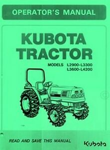 Admirable Kubota L2900 L3300 L3600 L4200 L 2900 3300 3600 4200 L Tractor Wiring Digital Resources Bemuashebarightsorg