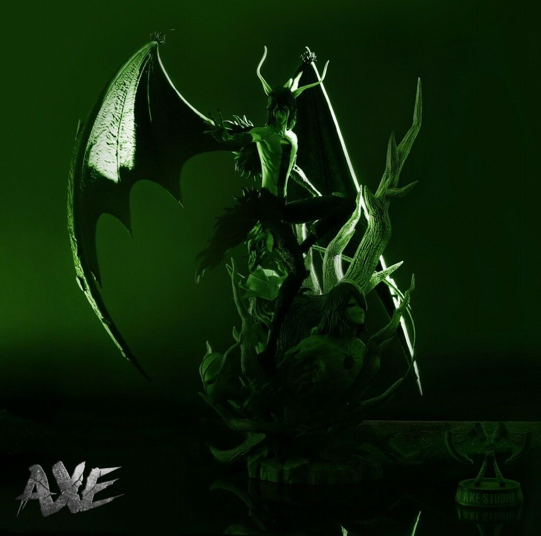 Japanese Anime Axe Bleach Ulquiorra Cifer Figure Statue Resin Limited In Stock Collectibles