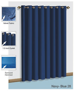 Image Is Loading Saaria Top Grommet Navy Blue Velvet Curtains Panel