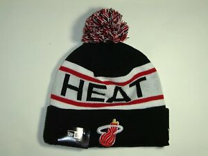 New Era NBA Miami Heat Team Biggest Fan Knit Cuffed Pam Beanie Hat ... 6b6d8198d