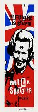 Frank Kozik SIGNED Margaret Thatcher LIMITED EDITION Giclee Print Milk Snatcher