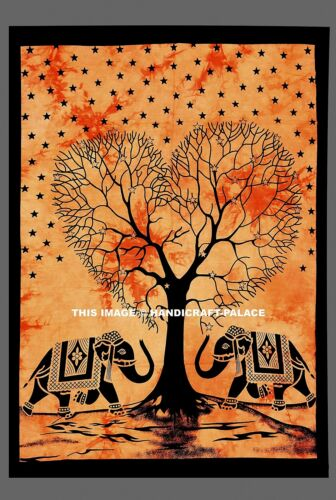 Indian Hippie Wall Hanging Elephant Mandala Tapestry Tapestries Boho Beach Throw