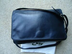 Large Shoulder Enny Italian Dustbag Leather Messenger Classic Navy amp; Bnwot Bag S7wq057F