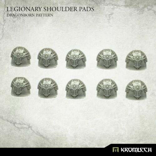 Legionary Shoulder Pads Dragon Pattern Bitz Bits Kromlech Resin KRCB235 10