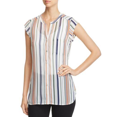 Daniel Rainn Womens Sheer Striped Blouse Button-Down Top Tunic BHFO 7093