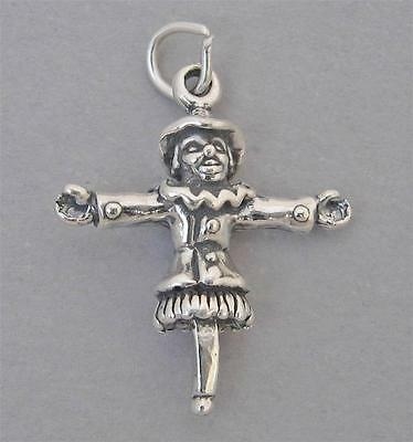 New Sterling Silver Charm Pendant 3D SCARECROW HALLOWEEN 2673