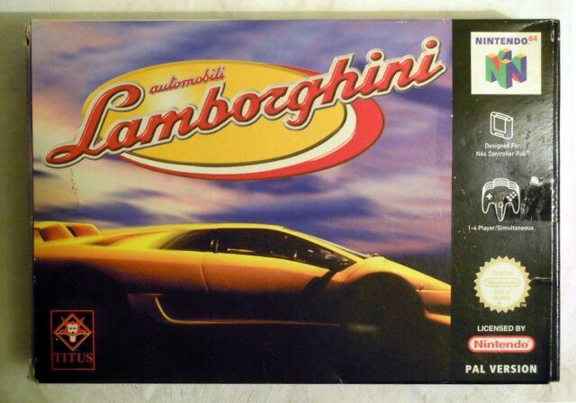 Titus: Automobmili Lamborghini für 1-4 Spieler für Nintendo 64, NEU & ungeöffnet