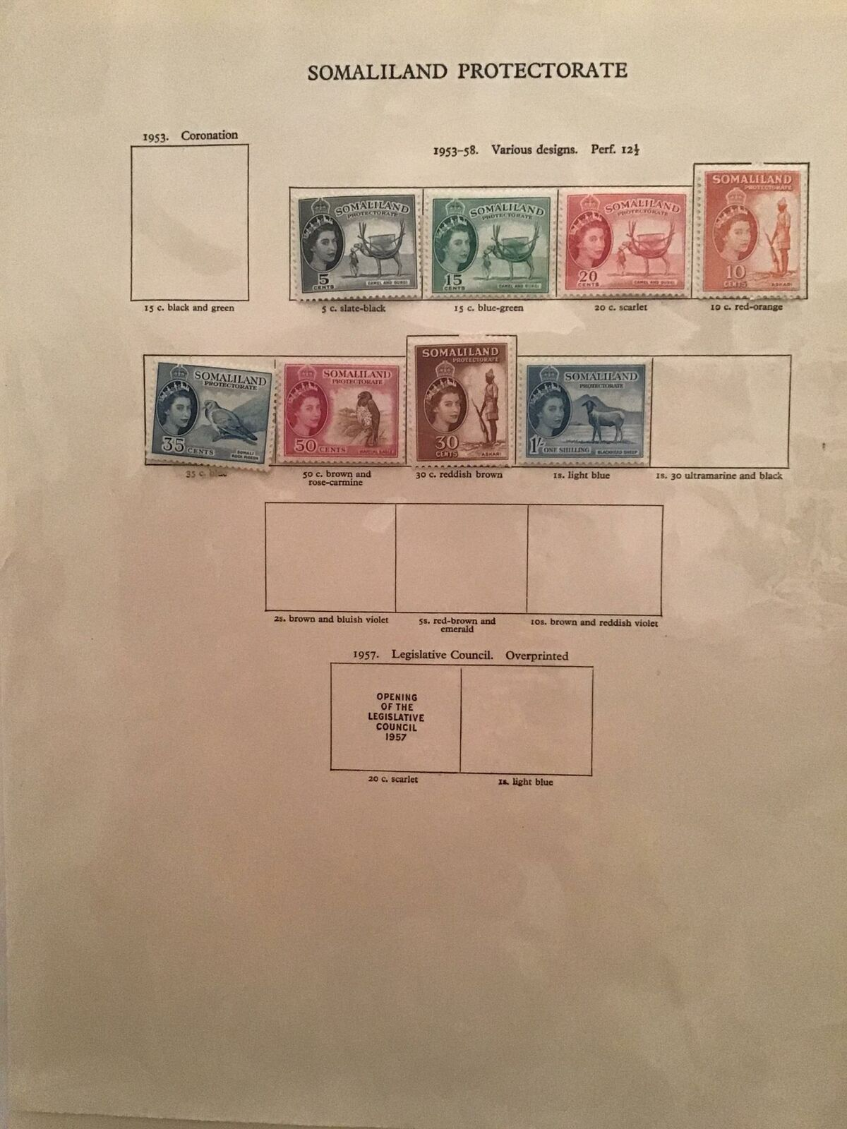 Somaliland Protectorate 1942 to 1950's stamp pages R23371