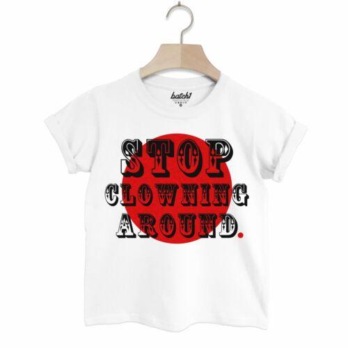 LOTTO 1 FUMETTI sollievo naso rosso giorno il pagliaccio in giro Divertente associazione di beneficenza per Bambini T-shirt