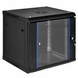 6U-Wallmount-Data-Cabinet-Enclosure-19-034-Server-Network-Rack-w-Locking-Glass-Door