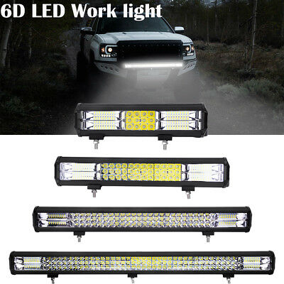 10x 12INCH 72W LED Work Light Bar Spot Flood Combo Offroad Pickup Van ATV 12V
