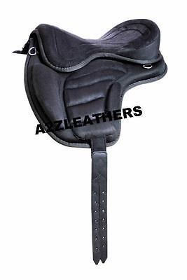 "Treeless Synthetic Saddles Black 16"" + Matching Girth"