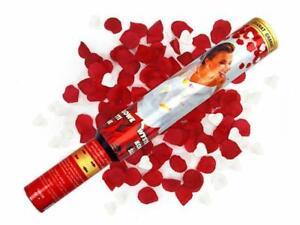 30cm MATRIMONIO FESTA DI COMPLEANNO CORIANDOLI CUORE BIANCO Popper & Red Rose Petalo  </span>